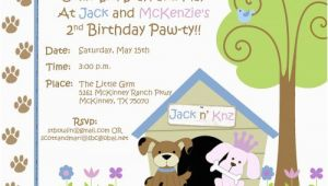 Puppy themed Birthday Party Invitations Free Dog themed Birthday Party Invitations Template Free