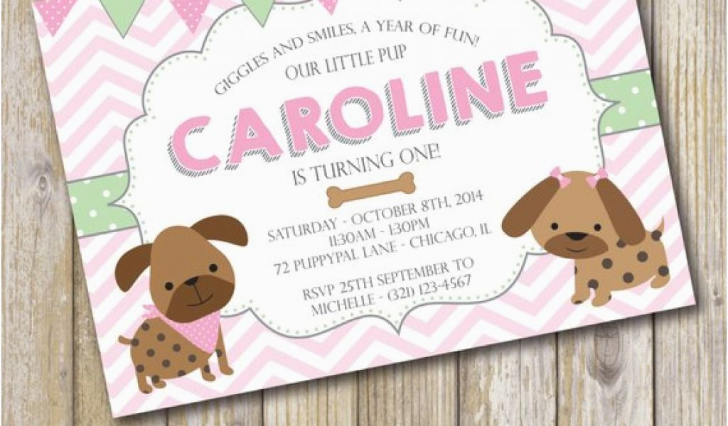 Download By SizeHandphone Tablet Desktop Original Size Back To Puppy Themed Birthday Party Invitations