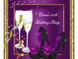 Purple 30th Birthday Decorations Party Plum Gold Black Card Zazzle
