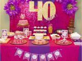 Purple 40th Birthday Decorations 40 Again 40th Birthday Party Celebration Dime Party Diva