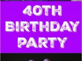 Purple 40th Birthday Decorations 40th Birthday Cake Cupcakes Cake Pops A Party for My