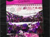 Purple 40th Birthday Decorations 40th Birthday Confetti Table Decoration Sprinkle Black