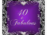 Purple 40th Birthday Decorations 40th Birthday Party Black Silver Deep Purple 13 Cm X 13 Cm