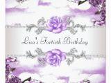 Purple 40th Birthday Decorations Purple Roses Womans 40th Birthday Party 13 Cm X 13 Cm