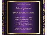 Purple and Gold 50th Birthday Invitations 50th Birthday Party Purple Metallic Gold Invitation