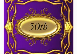 Purple and Gold 50th Birthday Invitations Purple and Gold 50th Birthday Invitation Zazzle