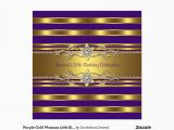 Purple and Gold 50th Birthday Invitations Purple Gold Womans 50th Birthday Party Invitation