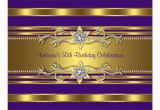 Purple and Gold 50th Birthday Invitations Purple Gold Womans 50th Birthday Party Invitation Zazzle