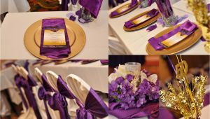 Purple and Gold Birthday Decorations Party Decor Kustom Kreations