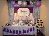 Purple and Silver Birthday Decorations Purple Silver and Black Birthday Party Candy Buffet Ideas