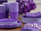 Purple and Silver Birthday Decorations Purple Tableware Purple Party Supplies Party City Canada