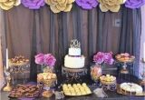 Purple and White Birthday Decorations Gold Purple and Black Birthday Party Ideas En 2018