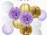 Purple and White Birthday Decorations Purple and Gold Birthday Decorations Amazon Com