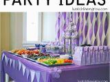 Purple and White Birthday Decorations Purple Birthday Party I Watch them Grow