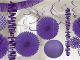 Purple and White Birthday Decorations Purple Decorations Purple Balloons Banners Confetti