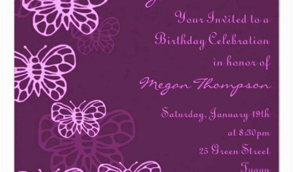Download By SizeHandphone Tablet Desktop Original Size Back To Purple Butterfly Birthday Invitations