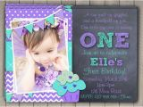 Purple First Birthday Invitations First Birthday Invitation Printable Download 1st Birthday
