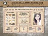 Pusheen Birthday Invitations Custom Pusheen the Cat Birthday Party by Qualitytimedesigns