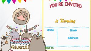 Pusheen Birthday Invitations Free Printable Pusheen Birthday Invitation Template Free