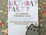 Pusheen Birthday Invitations Pusheen Kitty Inspired Party A touch Of that