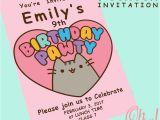 Pusheen Birthday Invitations Pusheen theme Party Invitation by Ohwowdesign On Etsy