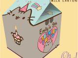 Pusheen Birthday Invitations Pusheen theme Spilt Milk Carton Favor by Ohwowdesign On