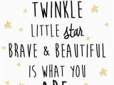 Quotes About Birthday Girl Nursery Star and Moon Digital Print Twinkle Twinkle