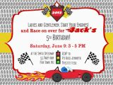 Race Car Birthday Invitations with Photo Birthday Party Invitation Race Car Race Cars Boy Birthday