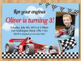 Race Car Birthday Invitations with Photo Race Car Birthday Invitation Boy Racing Car Birthday Party