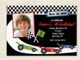 Race Car Birthday Invitations with Photo Race Car Birthday Invitations by Lollipopprints On Etsy
