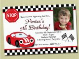 Race Car Birthday Invitations with Photo Race Car Birthday Invitations Ideas Bagvania Free