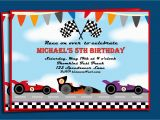 Race Car Birthday Invitations with Photo Race Car Invitation Free Printable