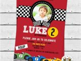 Race Car Birthday Invitations with Photo Racing Car Birthday Party Photo Invitation Race Car