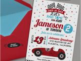 Race Car Birthday Invitations with Photo Red Racing Car Invitation Diy Race Car Birthday Party