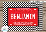 Race Car Birthday Invites Race Car Party Invitations Template Birthday Party