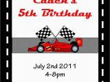 Race Car themed Birthday Invitations 5 Best Images Of Race Car Invitations Printable Race Car