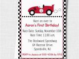 Race Car themed Birthday Invitations Custom Race Car Invitation Race Car theme Party Boy