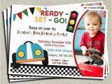 Race Car themed Birthday Invitations Race Car Birthday Car Birthday and Race Cars On Pinterest