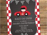 Race Car themed Birthday Invitations Race Car Birthday Invitation Boy Birthday Second Birthday