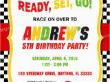 Race Car themed Birthday Invitations Race Car Birthday Invitation Printable Race Car