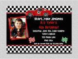 Race Car themed Birthday Invitations Race Car Birthday Invitation Race Car Birthday Party