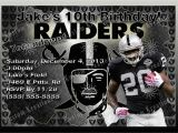 Raiders Birthday Card Nfl Oakland Raiders Birthday Invitation Kustom Kreations