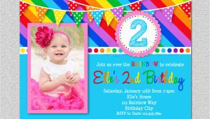 Rainbow 1st Birthday Invitations Rainbow Birthday Invitation Rainbow Kids Birthday Invite 1st