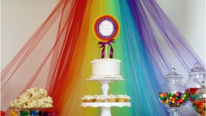 Rainbow Birthday Decoration Ideas Rainbow Birthday Party Ideas Little Us