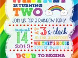 Rainbow First Birthday Invitations Custom Rainbow Birthday Invitation First Birthday Boy