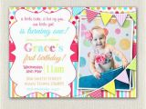 Rainbow First Birthday Invitations Girls 1st Birthday Rainbow Invitation by Pixieperfectparties