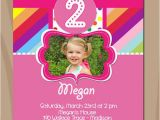 Rainbow First Birthday Invitations Items Similar to Rainbow Birthday Invitation Colorful