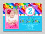 Rainbow First Birthday Invitations Rainbow Birthday Invitation Rainbow Kids Birthday Invite 1st