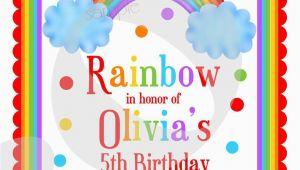 Rainbow themed Birthday Invitations Rainbow themed Birthday Invitations Best Party Ideas