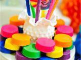Rainbow themed Birthday Party Decorations Kara 39 S Party Ideas Girly Rainbow Birthday Party Planning
